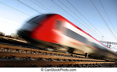 動き, 列車, 速い, ぼやけ