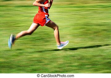 動き, 動くこと, レース, 赤, 衣装