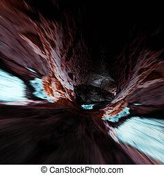 動き, 抽象的, 洞穴, 背景
