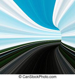 動き, 抽象的, 道