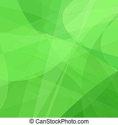 動き, 曲がった, 抽象的, 緑の背景