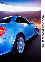 動き, 自動車, ぼやけ, 速い, スポーツ
