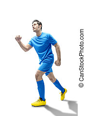 動くこと, フットボール, 人, プレーヤー, アジア人