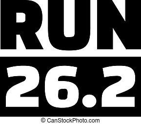 動くこと, マイル, 26.2, マラソン