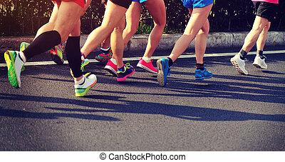 動くこと, マラソン, レース