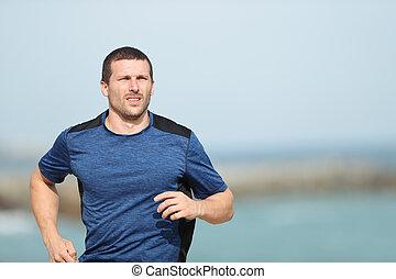 動くこと, ランナー, 浜, 訓練
