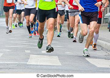動くこと, 人々, 都市, マラソン