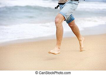 動くこと, 浜, 人