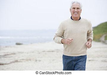 動くこと, 浜, 微笑の人