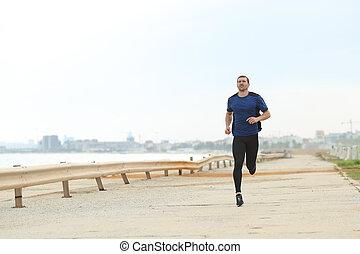 動くこと, 浜, 訓練, 単独で, ランナー