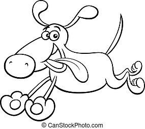 動くこと, 着色, 犬, 漫画, ページ