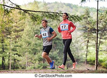 動くこと, 競争, レース, 恋人, nature., 若い