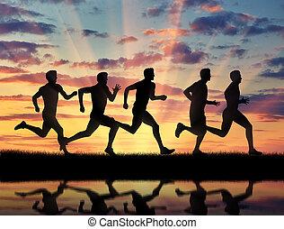 動くこと, 競争, sports., 5, 運動選手, ランナー
