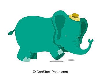 動くこと, 象