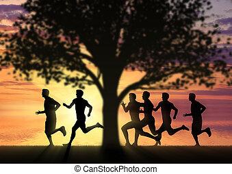 動くこと, 運動選手, sports., 競争, ランナー
