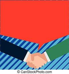 動揺, 人々, business., 作りなさい, 男性, 2, 出迎えなさい, 合意, それぞれ, ∥(彼・それ)ら∥, 間, 他, conversation., ビジネスマン, 持ちなさい, 手, 対, 深刻, 泡, talks.