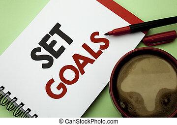 動機づけ, 概念, テキスト, 考え, セット, 執筆, ゴール, カップ, 次に, 書かれた, 本, it., コーヒー, 意味, ノート, 背景, goals., 夢, ターゲット, 平野, 目標, 計画, 手書き, ビジョン