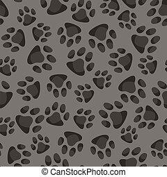 動物パターン, 抽象的, seamless, 背景, footprints.