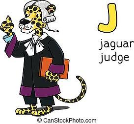 動物, ジャガー, j, 裁判官, 専門職, アルファベット, abc