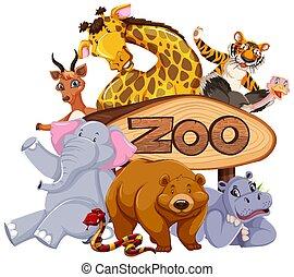動物, 入口の 印