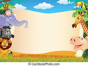 動物, 卡通, 以及, 空白徵候
