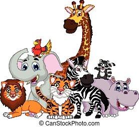 動物, 卡通, 矯柔造作