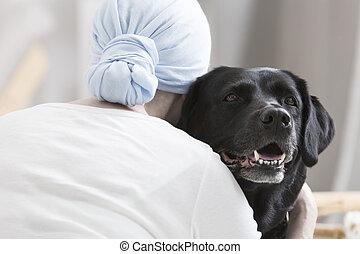 動物, 療法, 為, 癌症, 病人