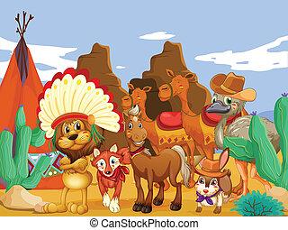 動物, 砂漠