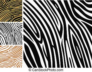 動物, 背景 パターン, -, シマウマの皮, 印刷