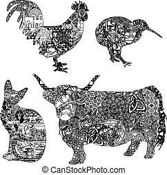 動物, 装飾, 民族