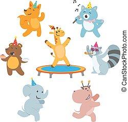 動物, birthday, 特徴, 楽しみ, パーティー, 持つこと