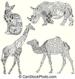 動物, patterns., 民族