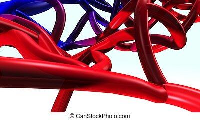 動脈, 静脈, &, 前部