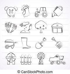務農, 農業, 圖象