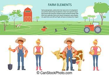 務農, infographic, 元素