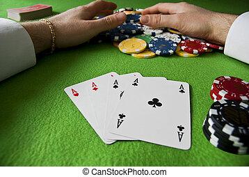 勝利, ∥で∥, ポーカー, の, エース