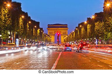 勝利, アーチ, パリ, フランス
