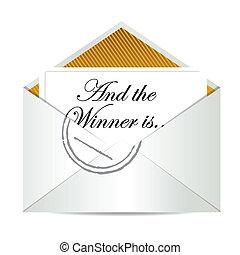 勝者, 概念, 封筒, 賞