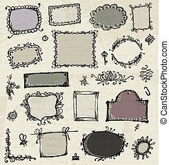 勾画, 在中, 框架, 手, 图, 为, 你, 设计