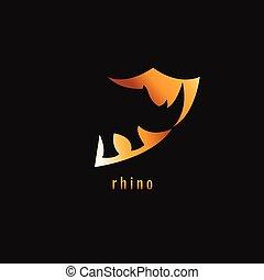 勾配, シンボル。, サイ, 暗い, バックグラウンド。, ベクトル, オレンジ, logo.