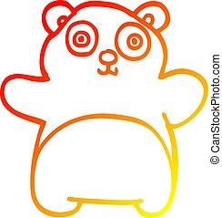 勾配, 図画, パンダ, 暖かい, 線, 漫画, 幸せ
