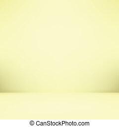 勾配, 壁, そして, 平ら, 床, 中に, 空, 広い, 部屋, 内部