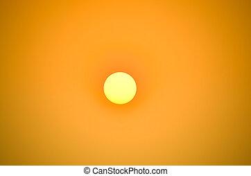 勾配, 大きい空, 色, 明るい太陽, オレンジ