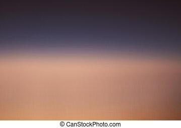 勾配, 日没の 空, 背景
