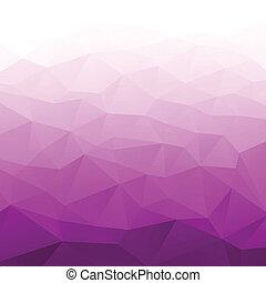 勾配, 紫色, 抽象的, 幾何学的, バックグラウンド。