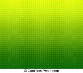 勾配, 緑の背景