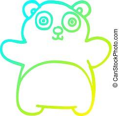 勾配, 線, 漫画, パンダ, 寒い, 図画, 幸せ