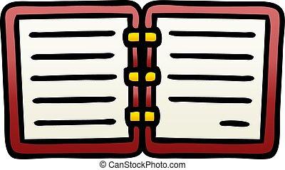 勾配, 開いた, 影で覆われる, 日記, 漫画