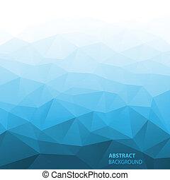 勾配, 青, 抽象的, 幾何学的, バックグラウンド。