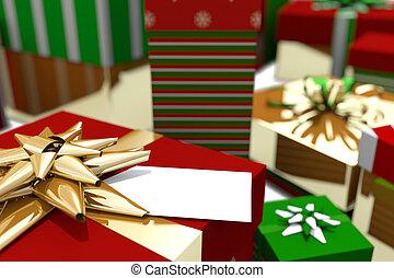 包まれた, カラフルである, 贈り物, クリスマス, の上